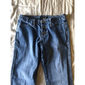Vtg 90's Angels -ultra low rise stretch blue jeans